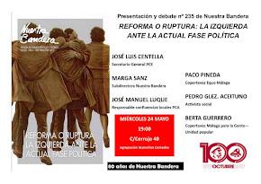 """Presentación de la revista Nuestra Bandera nº 235 """"Reforma o Ruptura"""""""