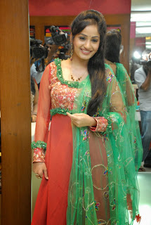 Actress Madhavi Latha Pictures in Salwar Kameez at Sreeja Fashions South Silk Festival 2013 Launch  0002.jpg