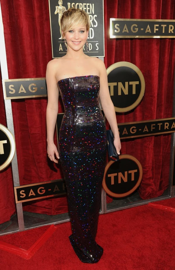 Jennifer Lawrence sag awards 2014