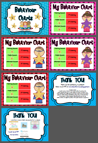 http://www.teacherspayteachers.com/Product/Behaviour-Charts-Individual-1239798