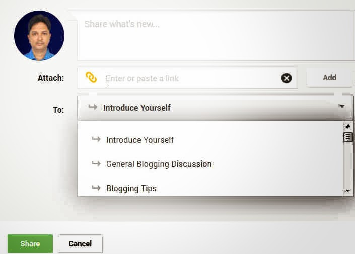 Share Your Blog Posts with Google+ Communities