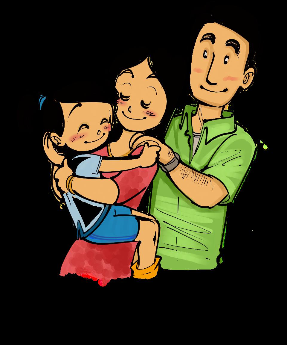 Abrazo caricatura - Imagui