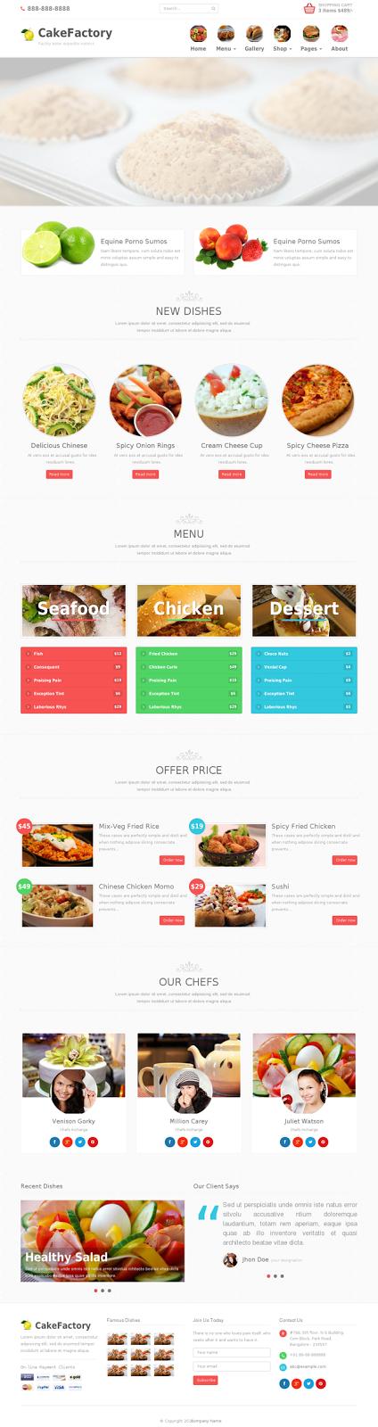 Bootstrap Restaurant Theme