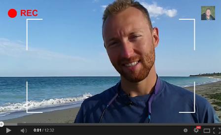 Constantin Gabor Vlogger on Beach in Bulgaria