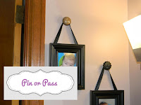 Door knobs as frame hangers