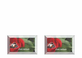 Tarjeta de Invitación a fiesta, diseño floral, Word