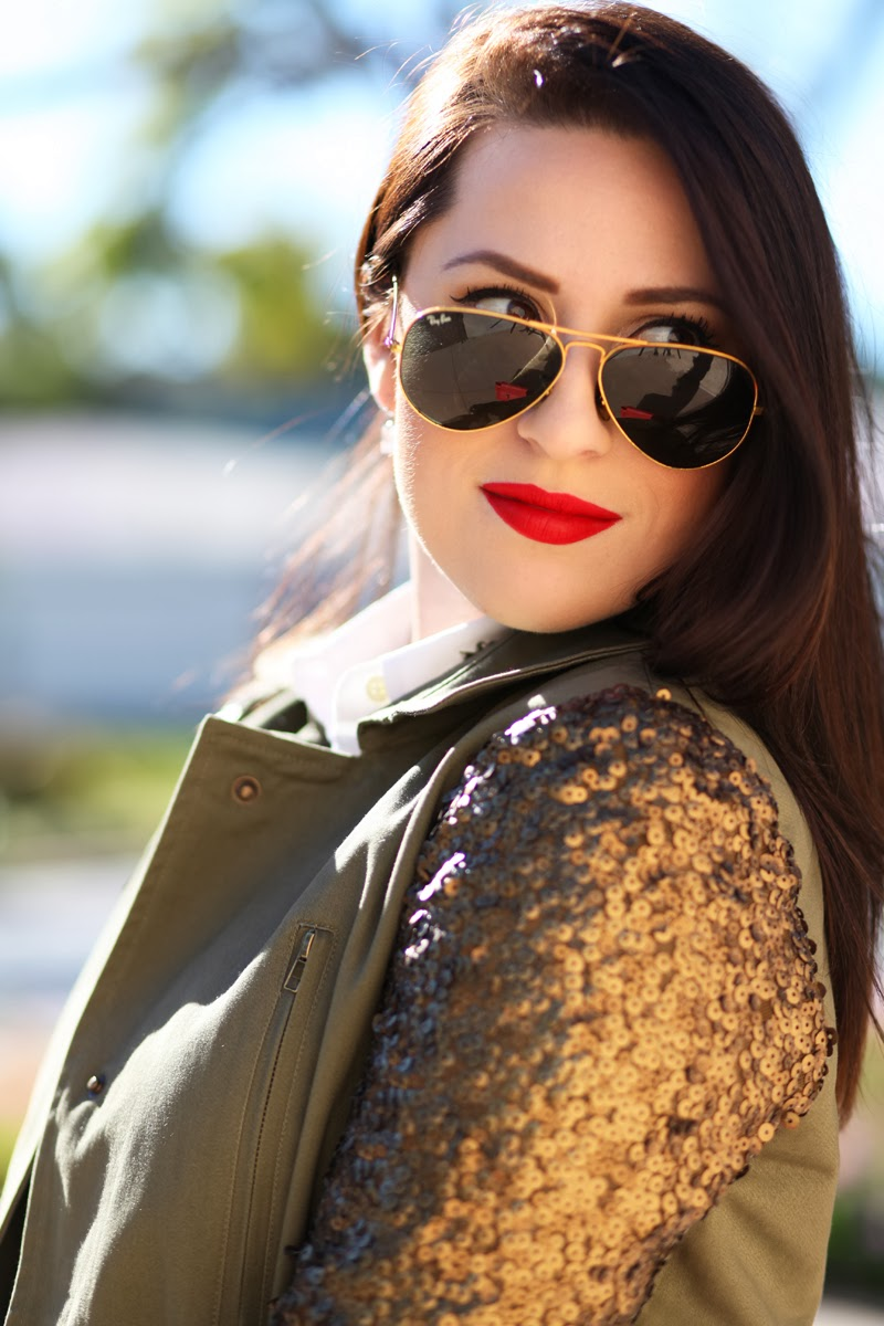 gold-ray-ban-aviators-stila-beso-lipstick-king-and-kind-blog