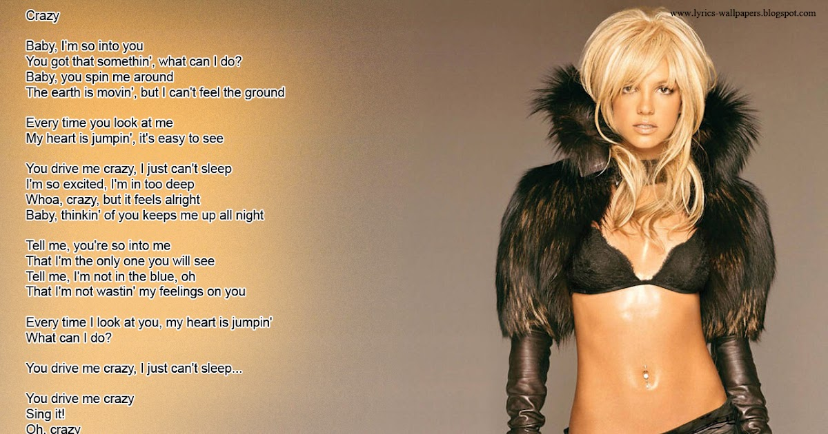 Lyrics Wallpapers: Britney Spears - Crazy Justin Timberlake Songs