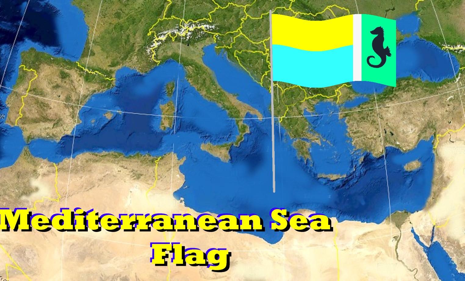 Mediterranean sea location on the europe map