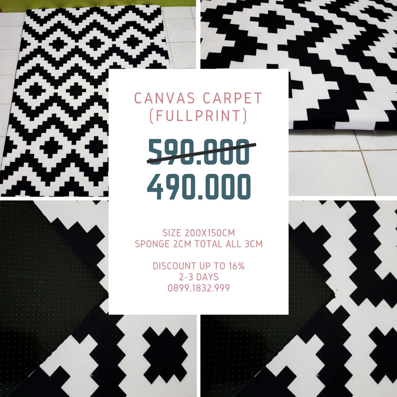 [NEW ARRIVAL] Karpet Canvas Waterproof