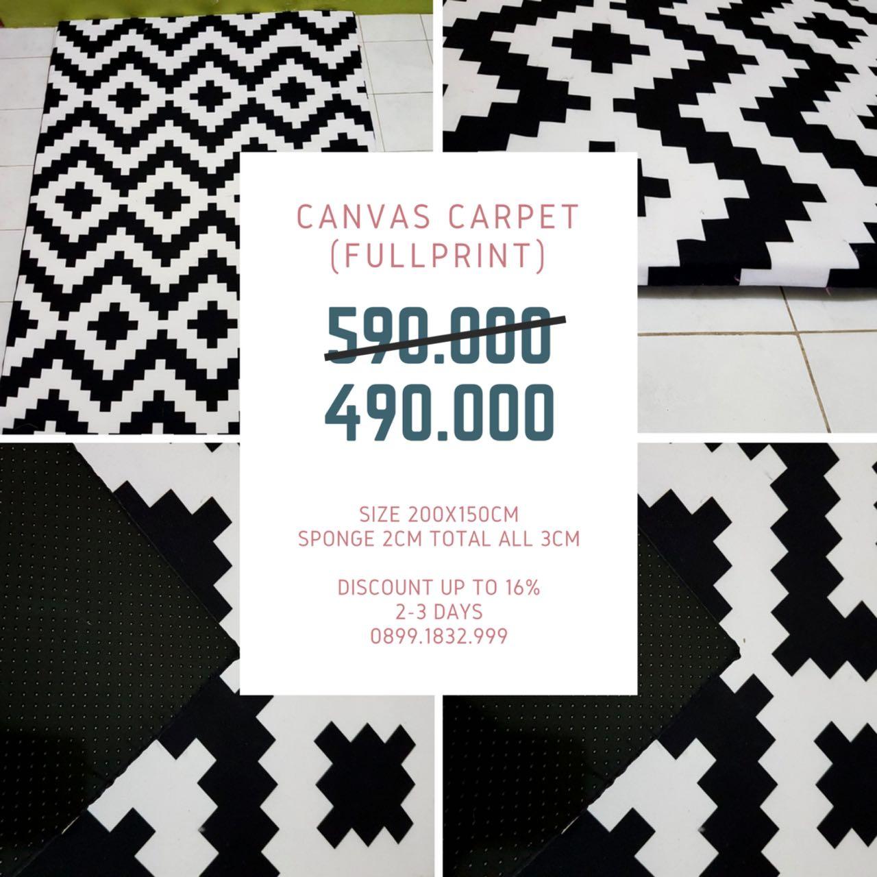 [NEW ARRIVAL] Karpet Canvas Waterproof