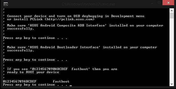 """double klik file """" Root.bat """" (untuk Windows), sedangkan file """" Root ..."""