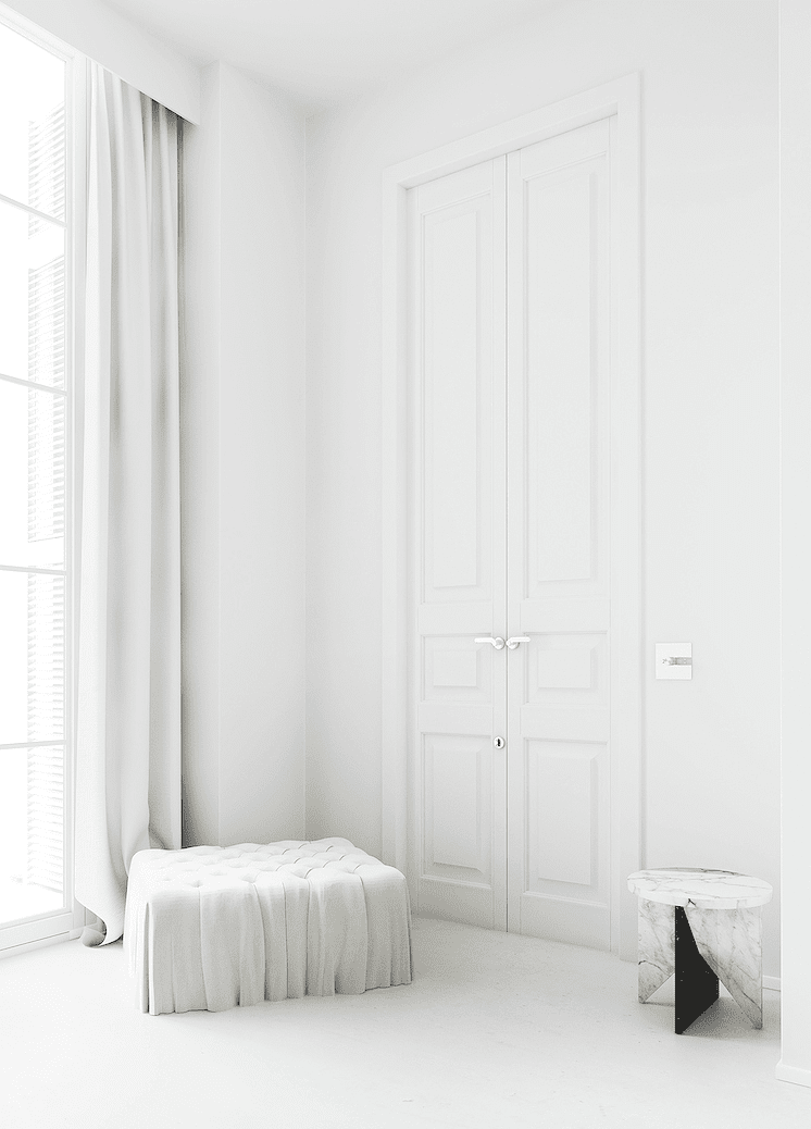 Vestidor con iluminación natural