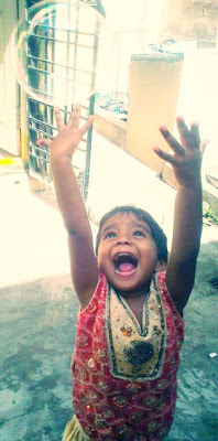 Elated child