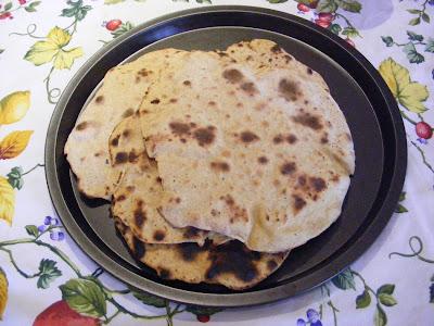 pane indiano di ceci di  cucina naturale