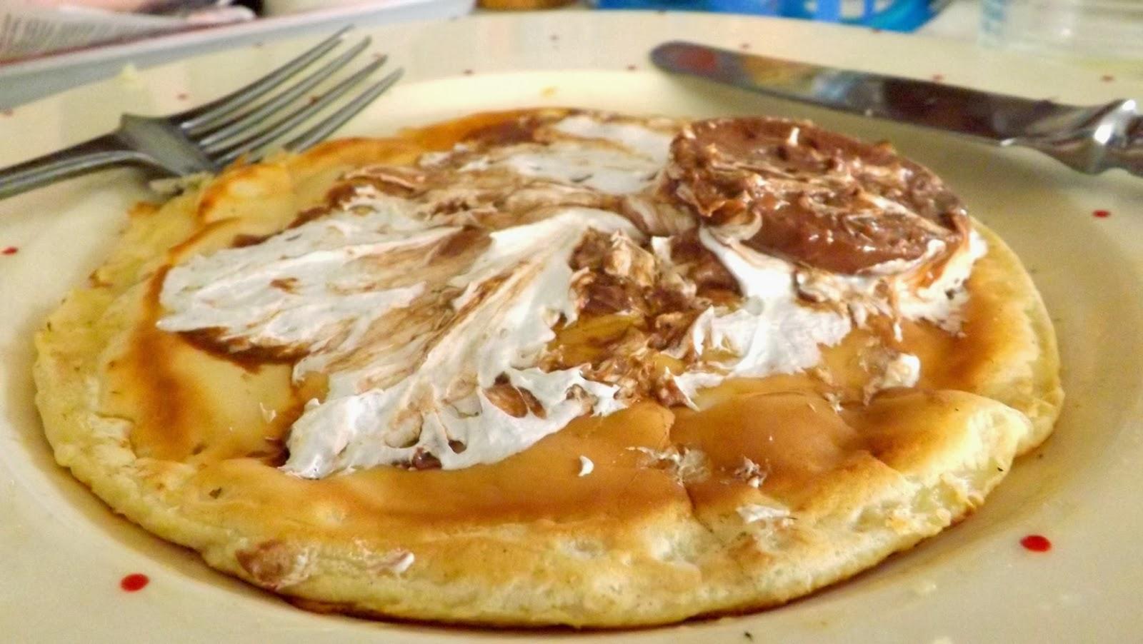 Pancake day - topped with Tunnock's Teacake