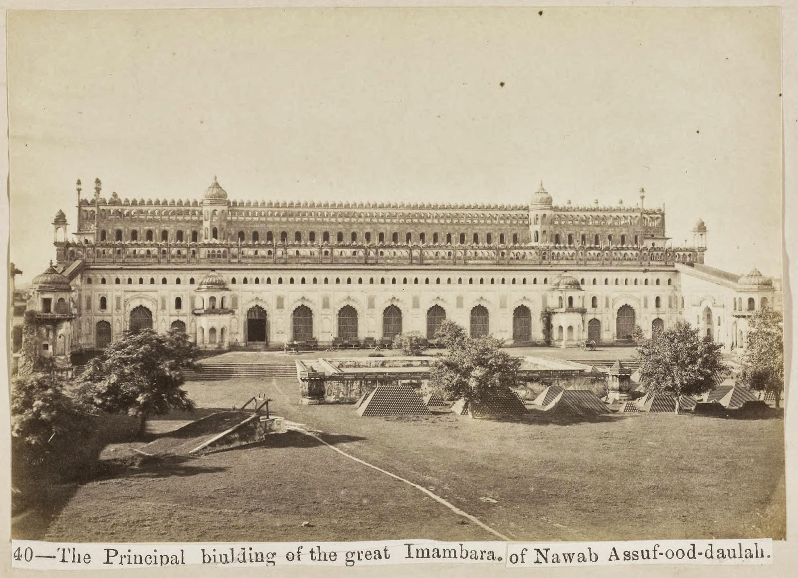 The Principla Building Of The Great Imambara Of Nawab Assuf Ood Daulah Lucknow 1870 39 S Old
