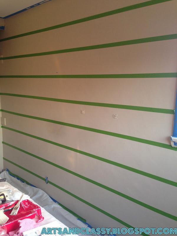 Striped Accent Wall Decor Ideas