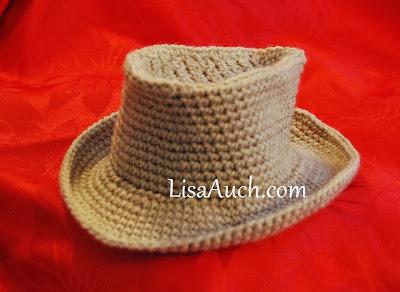 Baby cowboy crochet Hat Pattern-free crochet pattern-cowboy hat