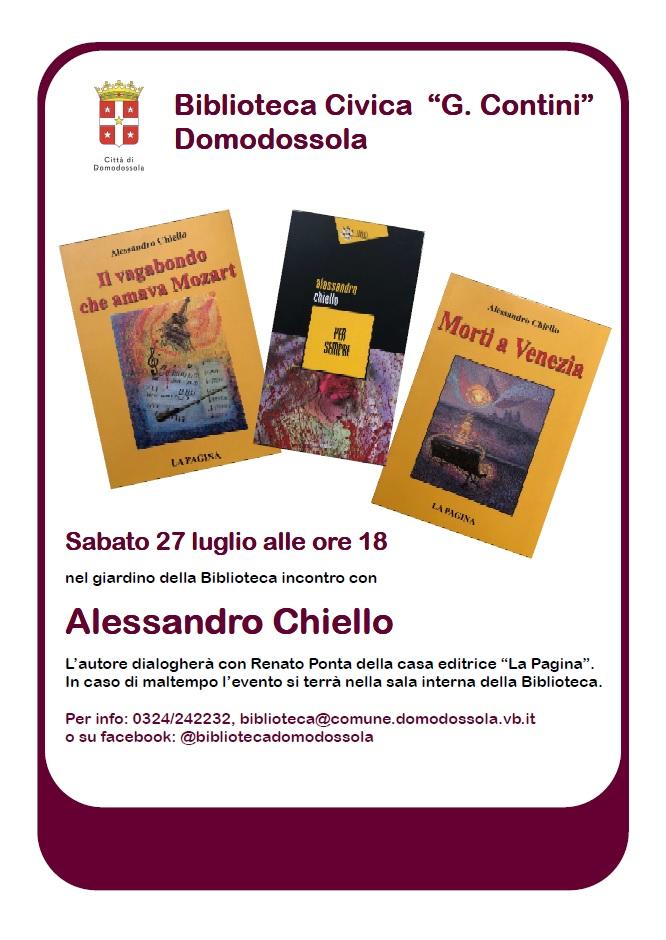 Incontro con Alessandro Chiello