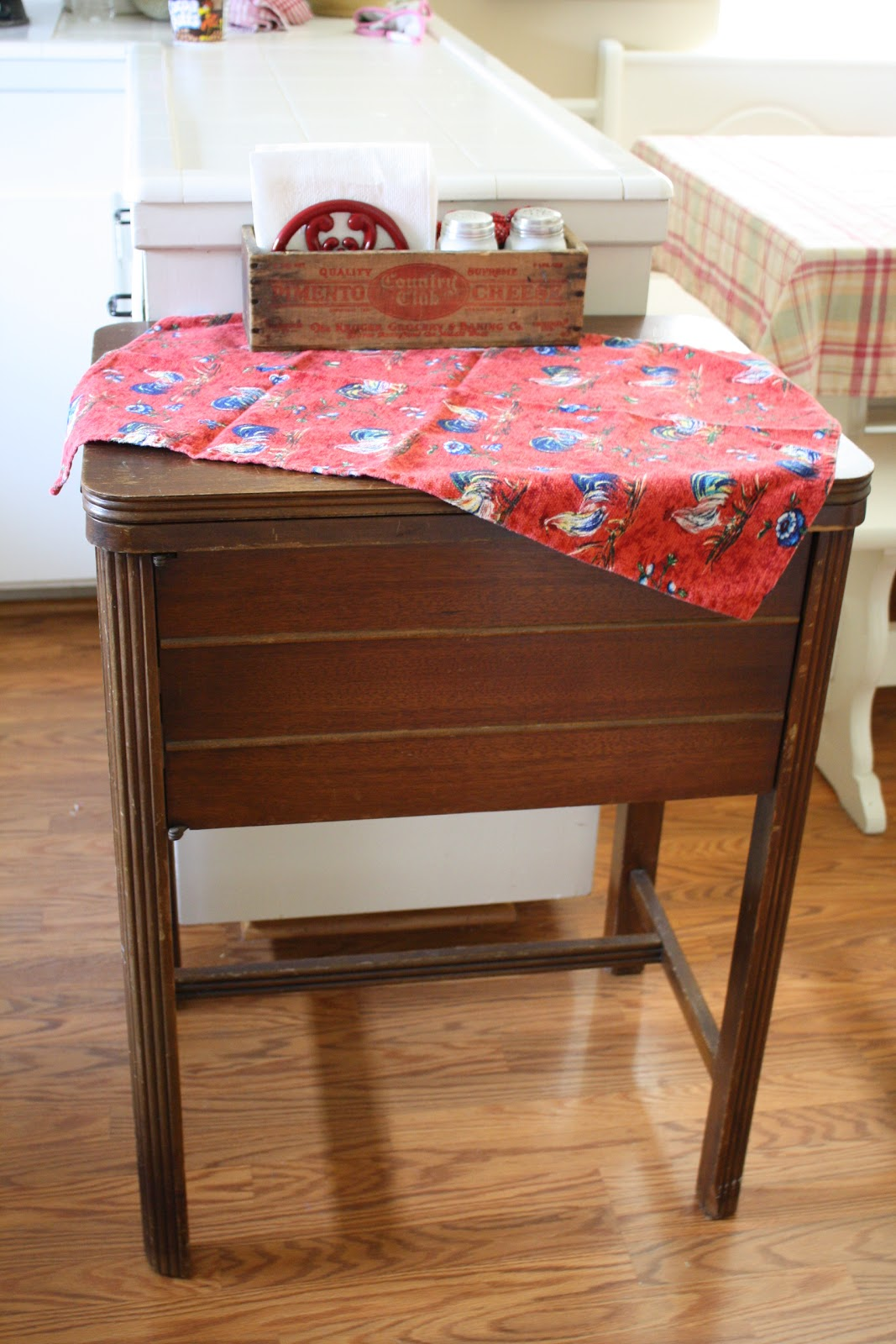 sunny simple life sewing table meets kitchen