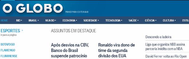 Los periódicos más importantes de Brasil - O Globo