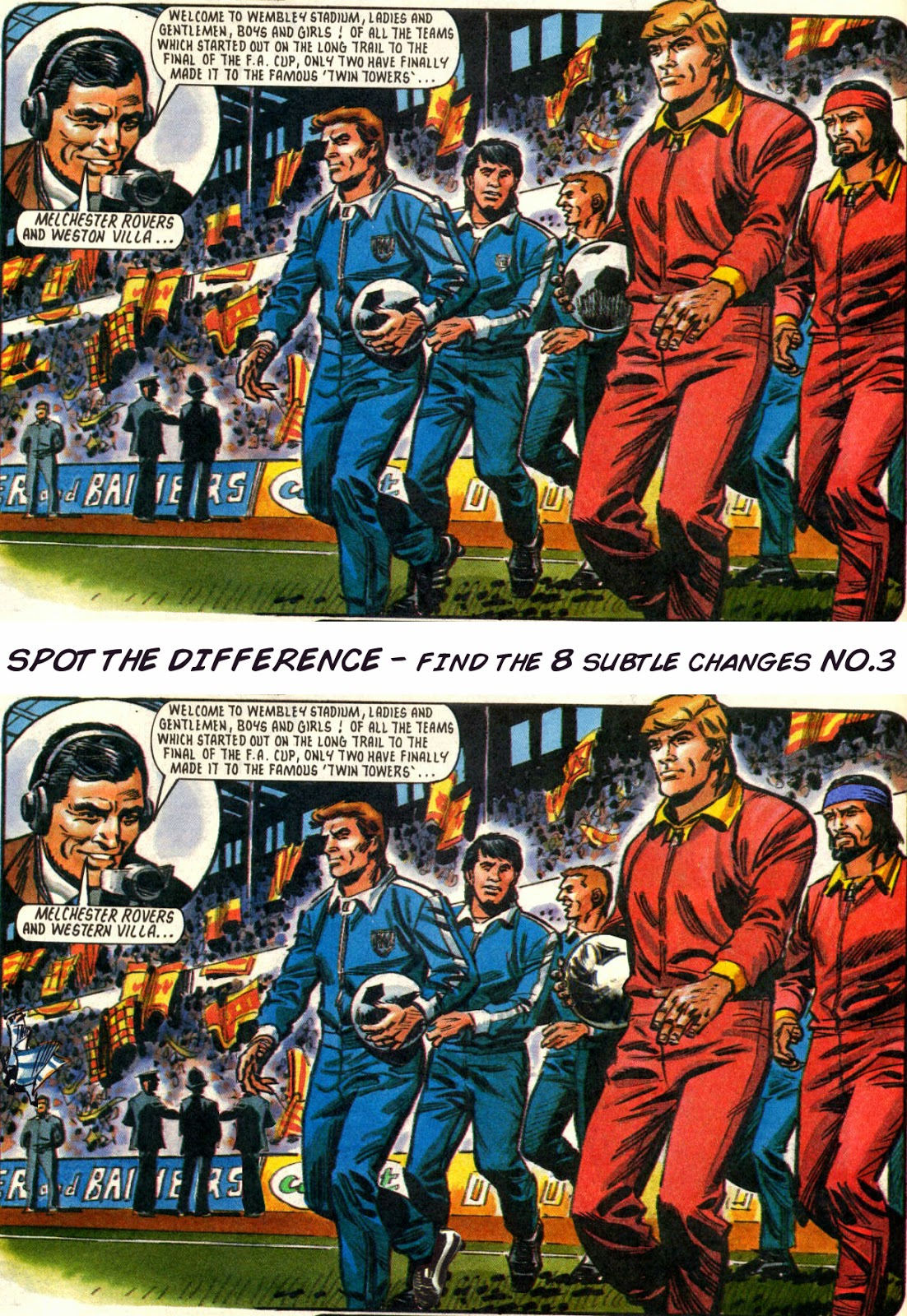 Roy of the Rovers Spot the Difference No.3