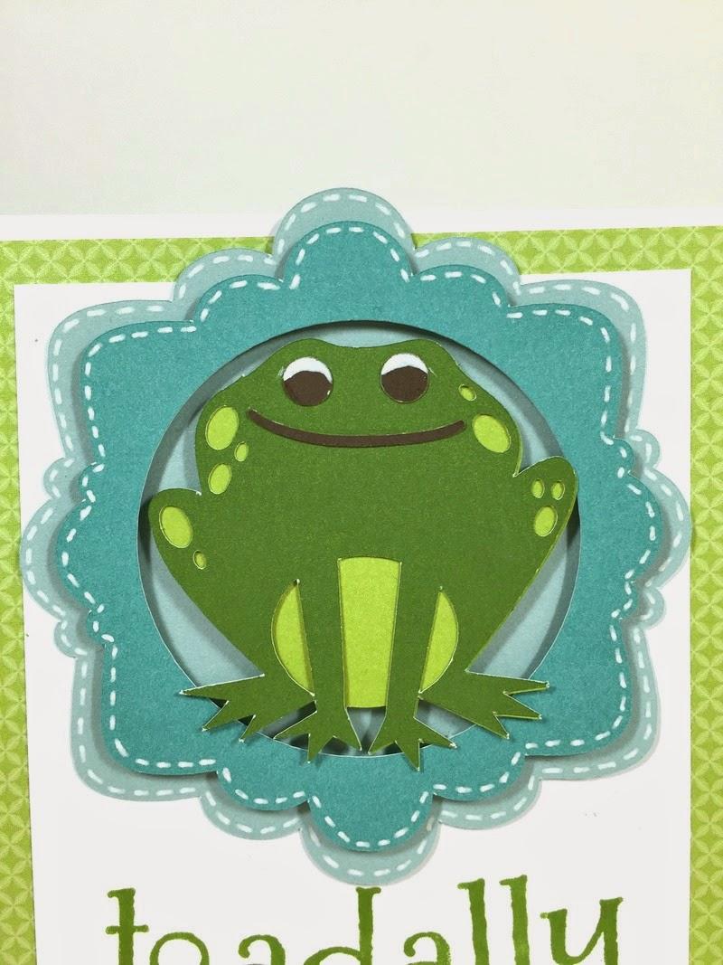 Cricut Toadally Cool Card