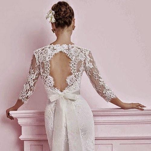 Красивое платье со спины