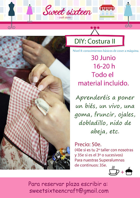 Taller Costura II. Sweet sixteen, madrid