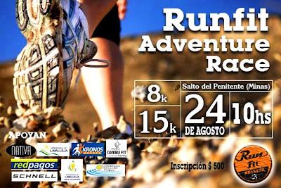 Runfit Adventure Race Salto del penitente (Lavalleja, 24/ago/2014)