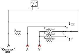electronics notes introduction to analog and digital multimeters rh ei notes blogspot com sanwa analog multimeter circuit diagram sanwa analog multimeter circuit diagram