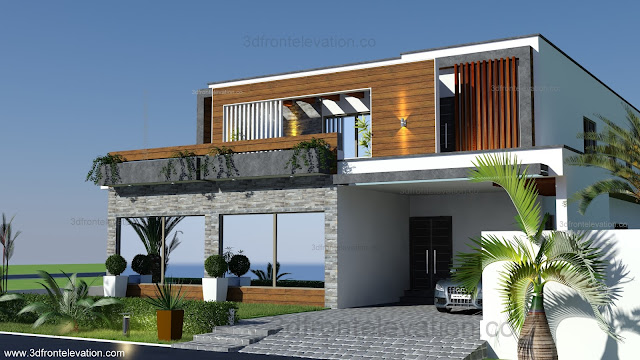 3d front home remodeling and renovation of for Hd house elevation