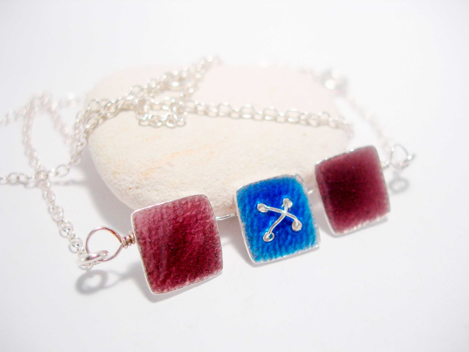 Sapphire & Blackberry Kiss in a Box Necklace