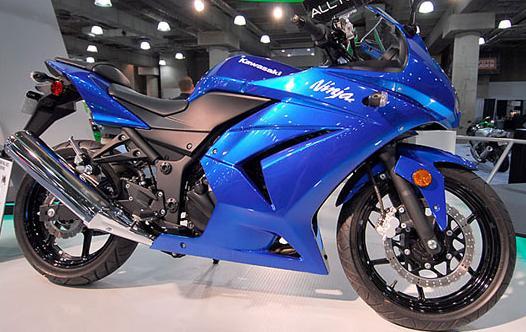 kawasaki ninja 250r blue. Blue kawasaki ninja 250r come