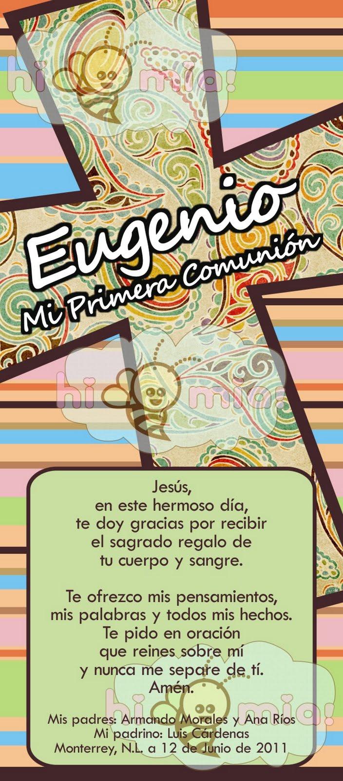 Oraciones Para Recuerdos De Primera Comunion