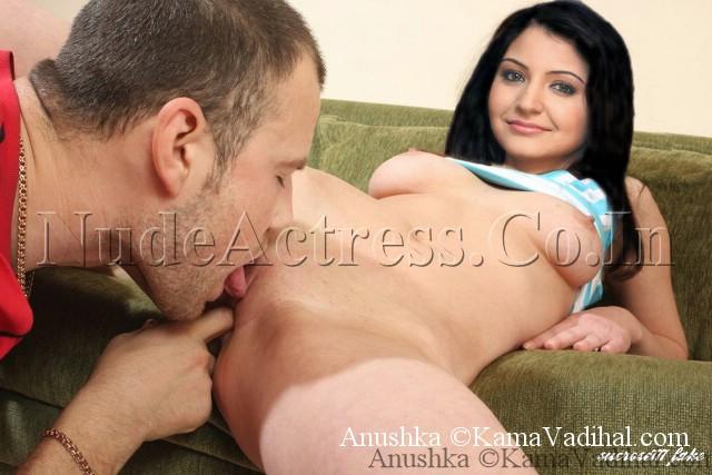 Actress Anushka Pussy show