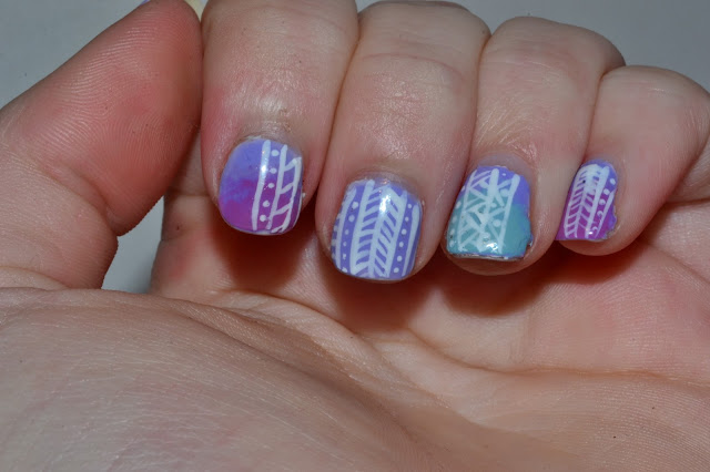 Pastel Tribal Nail Art by Elins Nails
