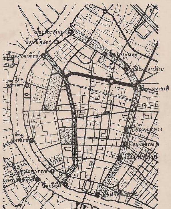 แผนที่ที่ตั้งป้อม 14 ป้อม