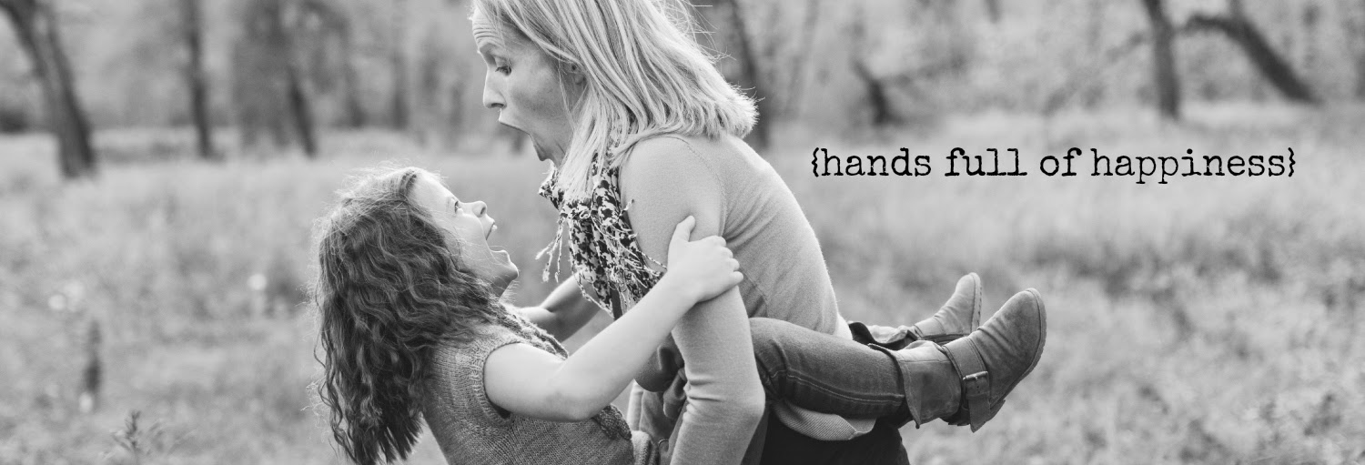 {hands full of happiness}
