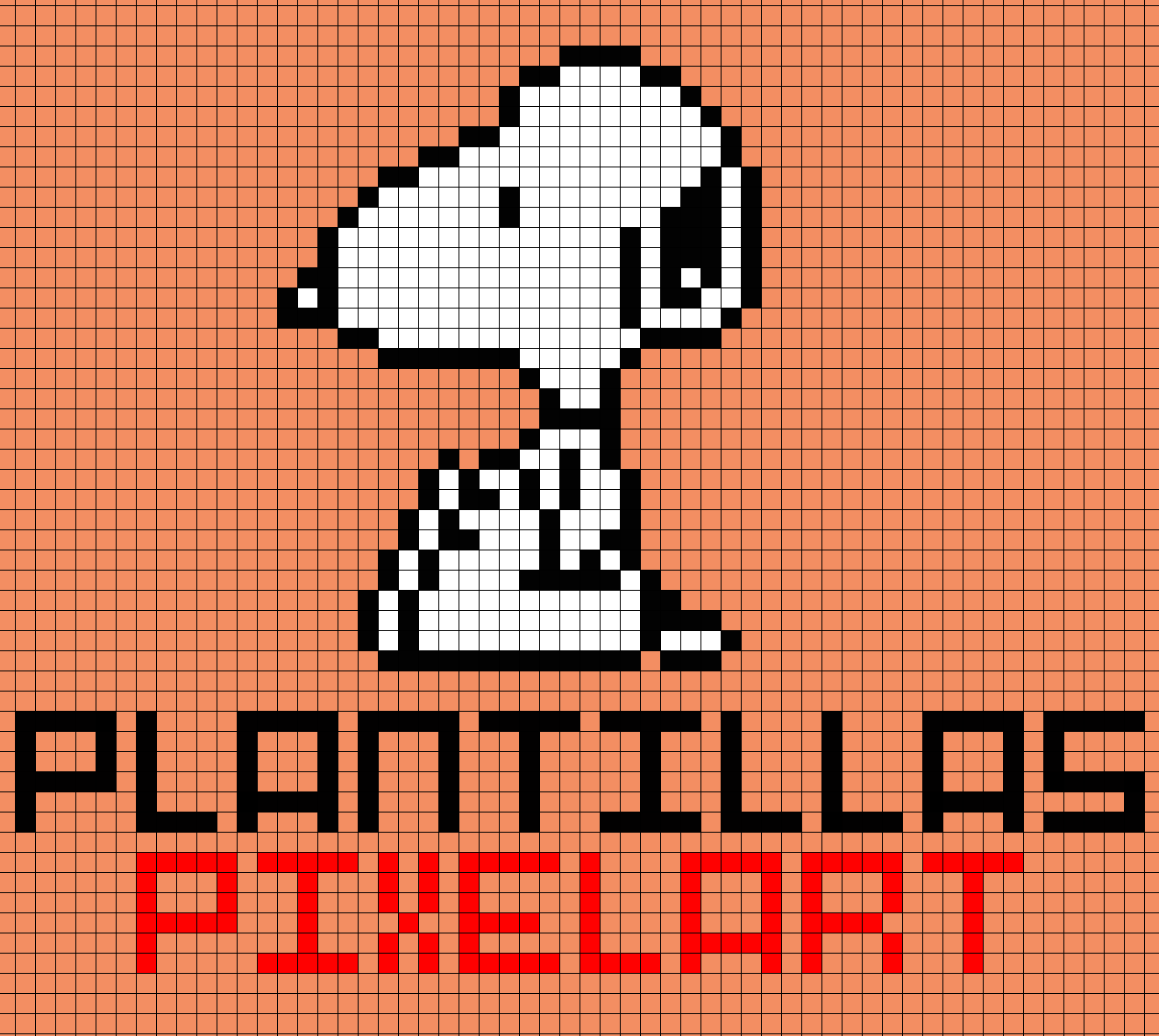 Plantillas PixelArt: Snoopy
