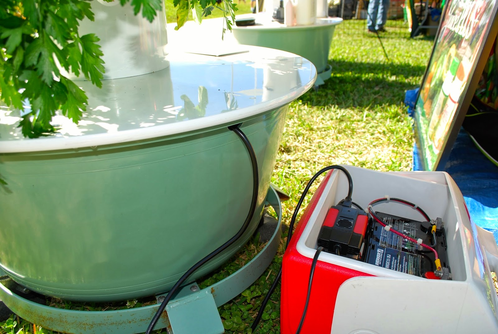 Solar Conversion Kit For Tower Garden By Juice Plus+, Royal Palm Beach  Green Market, Fla. Copyright 2014 By Helen A Lockey