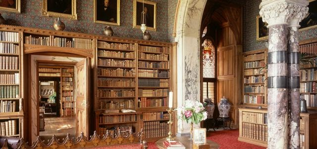 Library in Mount Stuart House, Isle of Bute