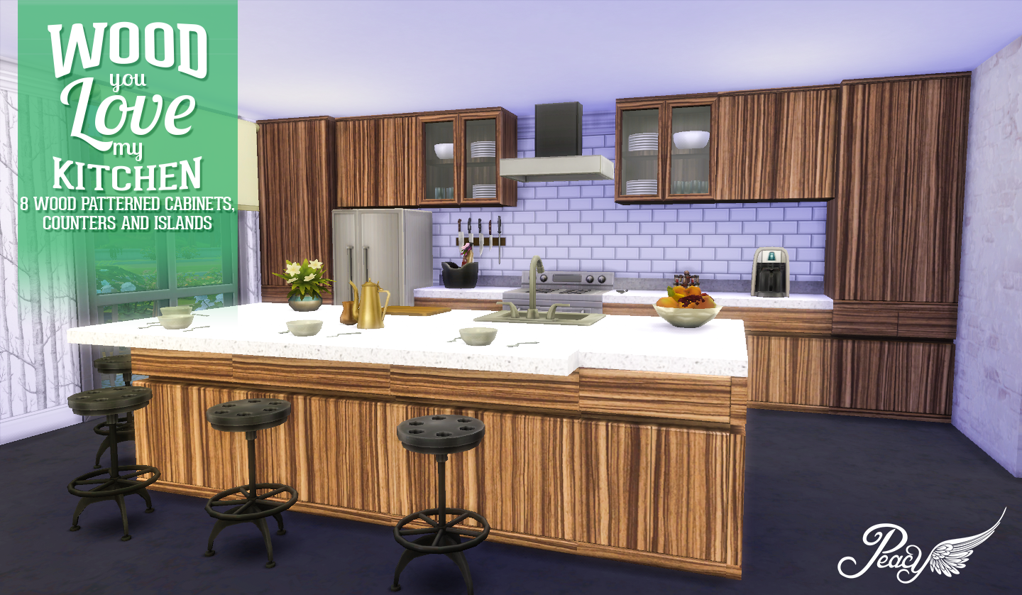 simsational designs wood you love my kitchen. Black Bedroom Furniture Sets. Home Design Ideas