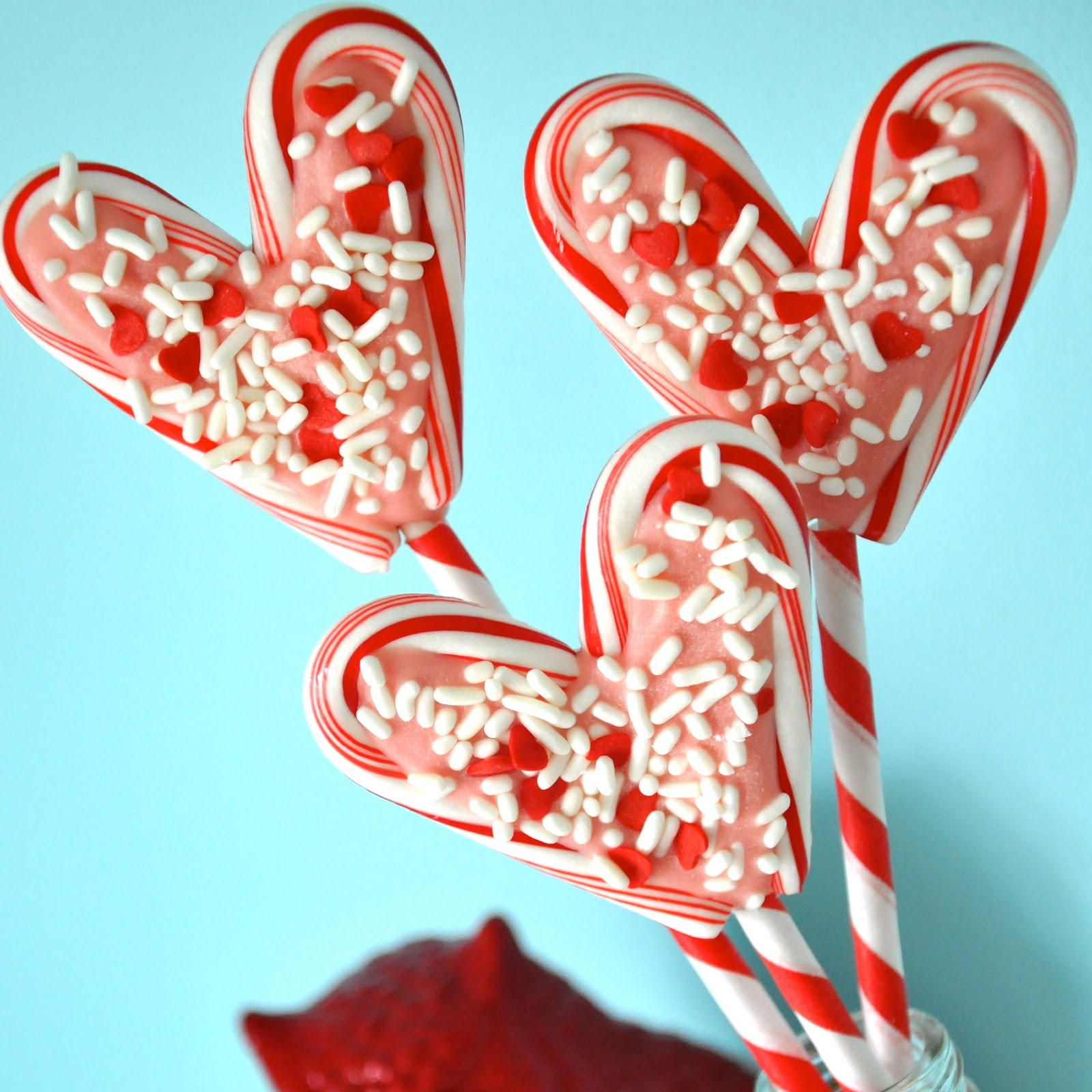 Little bit funky minute crafter candy cane hearts for