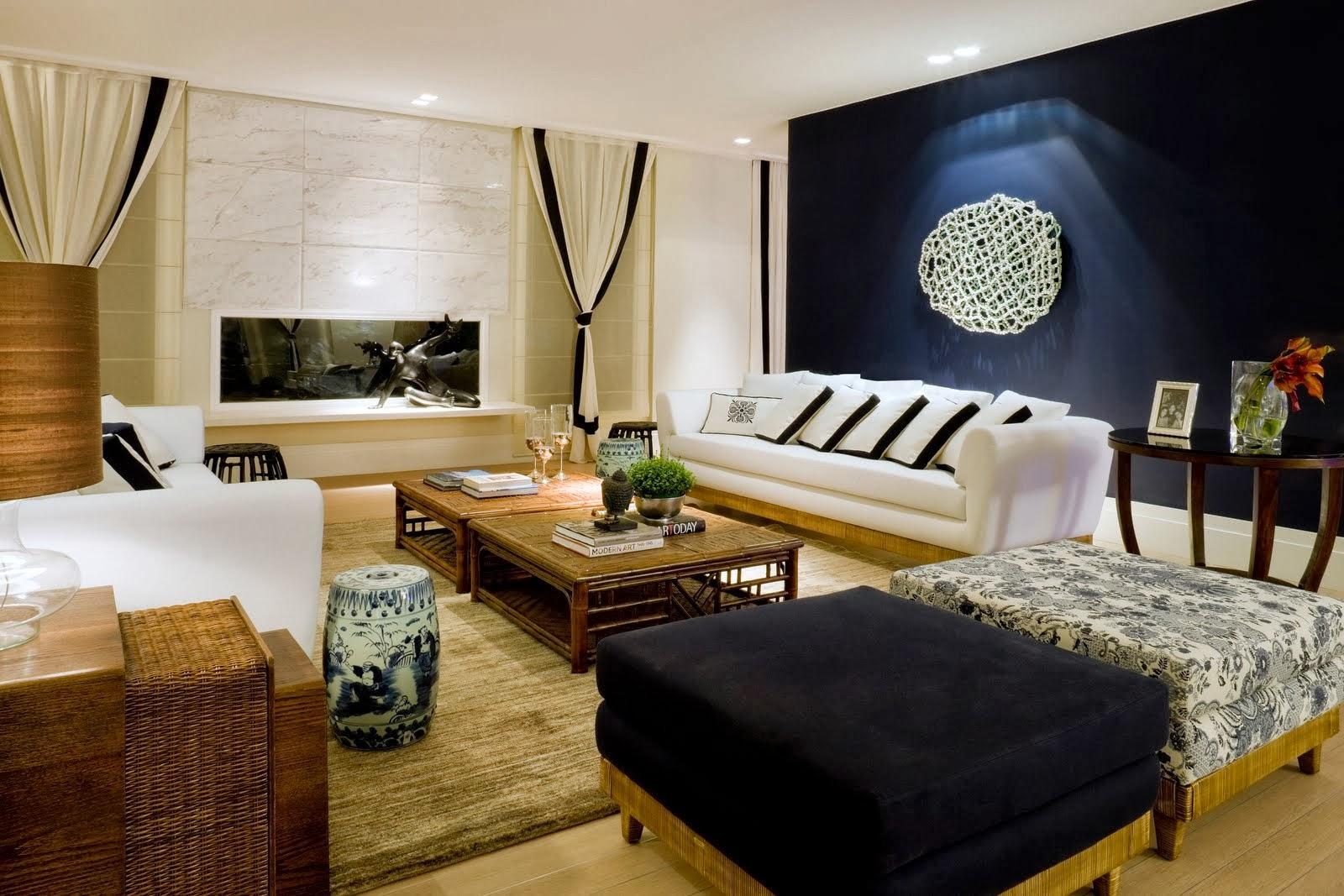 Sala De Estar Branca E Azul ~  maravilhosos!  Decor Salteado  Blog de Decoração e Arquitetura