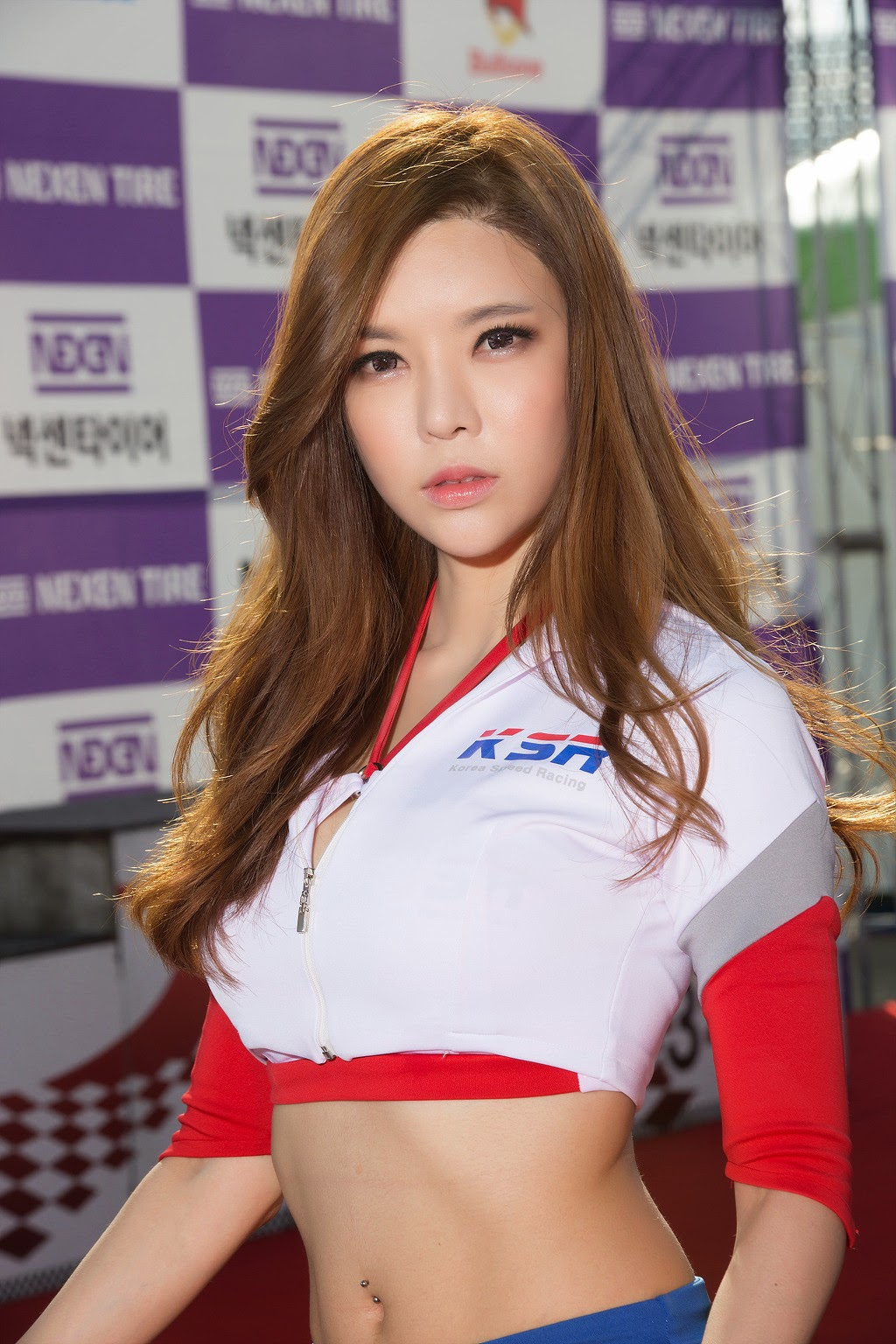 2 Ahn Ji Ah - Nexen Tire Speed Racing, Round 5 - very cute asian girl-girlcute4u.blogspot.com