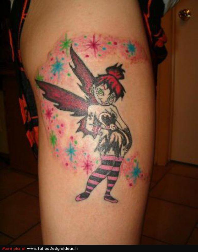 fairy tattoos with fairy dust