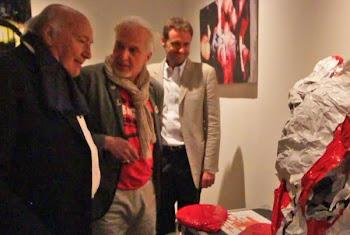 Ezio Gribaudo visita la mostra di Destroy Be