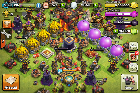 Clash of clans clan war strategy clash of clans iphone to android